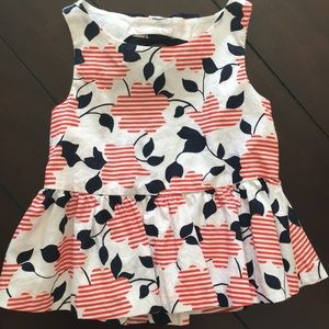 Janie and Jack baby girl shirt - size 12 to 18 mo